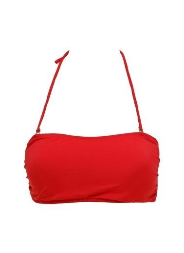 Limon Company Limon Tole Kırmızı Kadın Bikini Üst Kırmızı